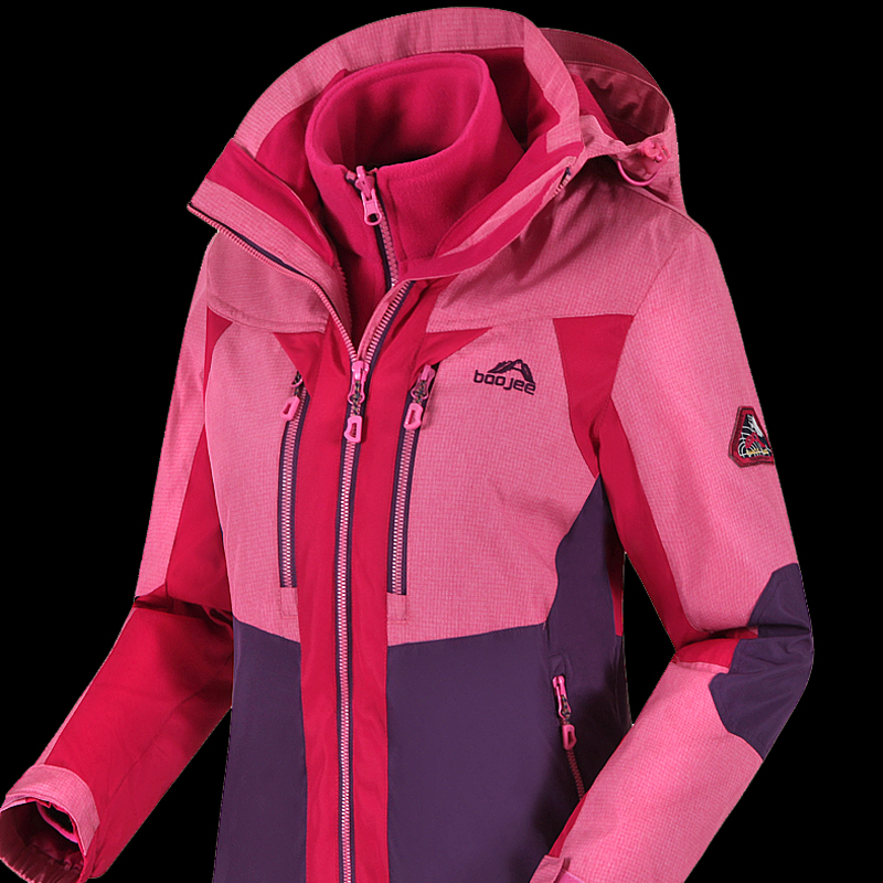 Mountaineering Jackets men's tide brand winter plus velvet thickening outdoor women's climbing clothes windproof warm jacket female Korean version