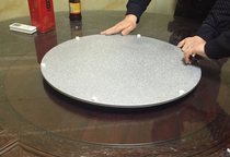 New diameter 480MM blast mahogany table marble round table silent turntable silver aluminum alloy base