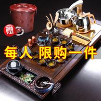 Чай набор группы дома гостиной черное твердое дерево чайная тарелка кунг-фу teacourse офис гостей полностью автоматический чай