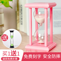 Time hourglass timer 3 15 30 60 minutes gift brushing childrens anti-fall creative practical personality pieces.