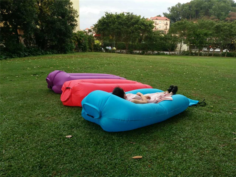 Factory direct portable inflatable sofa bed outdoor lazy sofa pocket air single sleeping bag lunch break