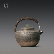Fine workshop pure silver 9999 kettle teapot pure hand-made a small Japanese silver pot make teapot