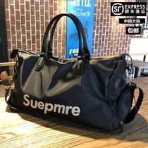 Чистая красная дорожная сумка для мужчин переносная сумка для путешествий для путешествий женская большая емкость сухая и влажная отдельно спортивная фитнес-сумка
