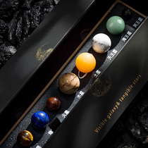 The nine planets of the solar system the original stone the planet the starry sky gift the natural gemstone Crystal ore specimen