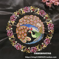Machine Embroidery embroidery wreath peacock embroidery slices accessories Physical Photo Sample Custom-made amount of large favorably