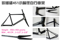 Carbon Fiber Small Wheel Diameter Bicycle Frame 451 Frame Leisure Vehicle 20-inch Fork FM-R06