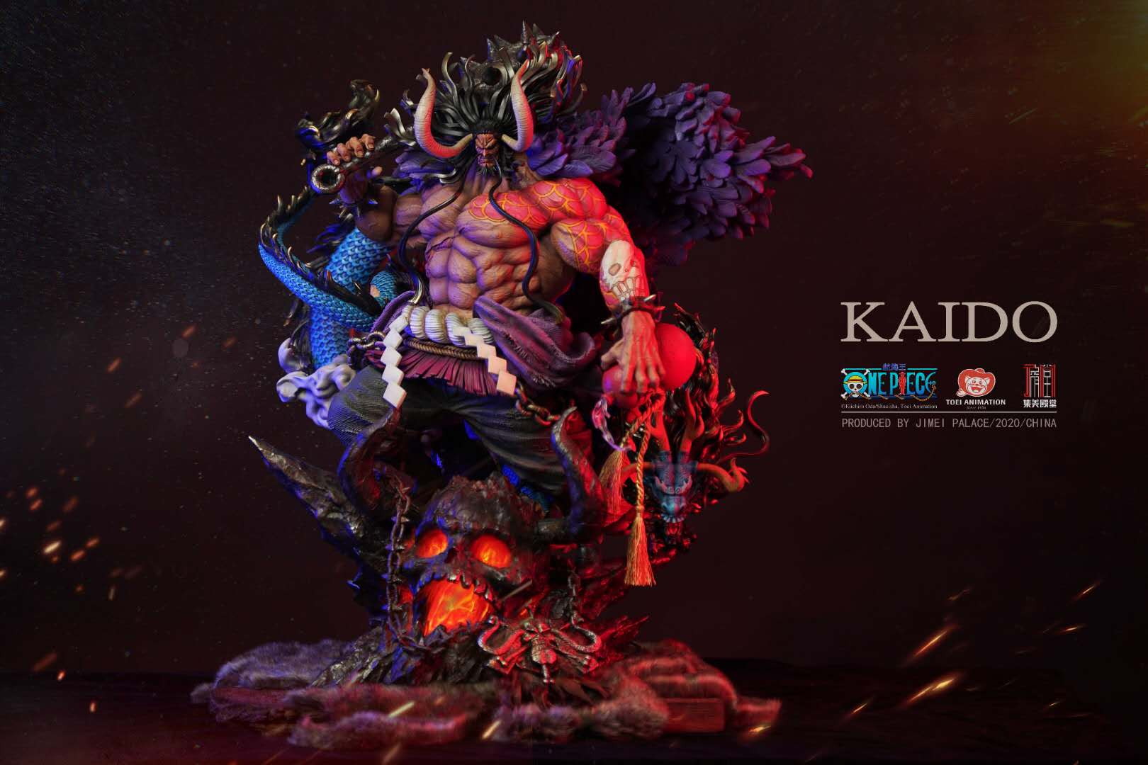 (Scheduled) set of the United States Hall of Fame  King of navigation genuine authorization of the four emperors resonant Kaido limited statue