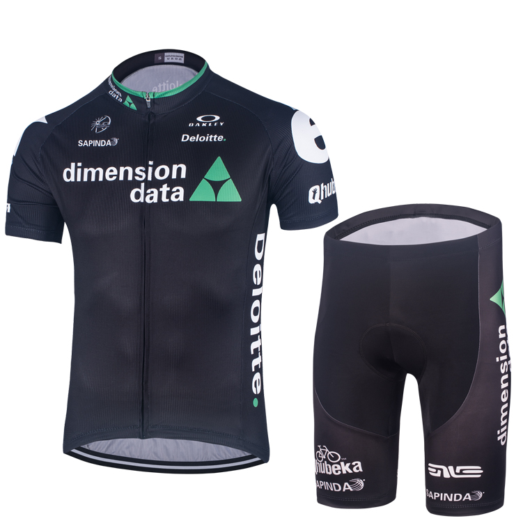 Special package 16 Dako black cycling suit short jacket short pants ring French cycling equipment