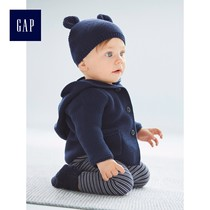 Baby Gap women and men cotton solid color baby bear ear Hoodie Cardigan Sweater 215587 y