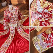 Xiuhe clothing bride 2021 New Chinese wedding dress wedding toast clothing large size dragon and phoenix coat slim out cabinet clothing