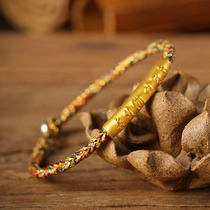Transfer beads couple bracelet hand-woven 999 gold six words mantra bracelet Male Female year of the year of the rat jewelry