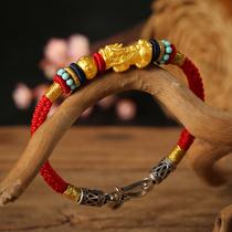 Female bracelet year fortune transfer 999 rich brave brave red rope lovers hand braided brave bracelet male