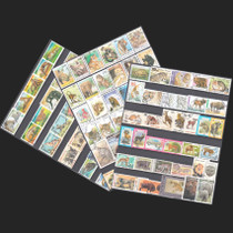 Foreign animal category 250 different topics datestamped Stamp collection