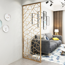 Nordic Entry Iron screen partition living room small type of modern simple living room teahouse Decoration Xuan Guan partition
