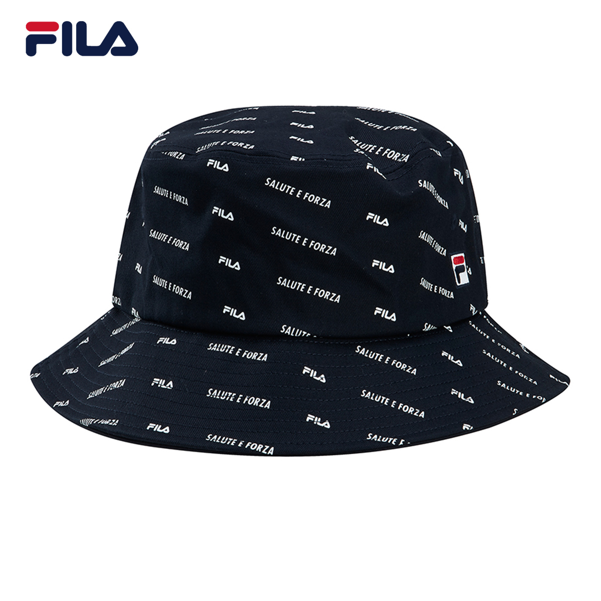 FILA Philae official couple fishermans hat 2021 summer new full print sports fisherman hat mens and womens round cap