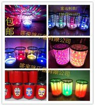 Special single lamp double lamp colorful led fantasy flying flowers Laser Lightning flash control crystal Child water drum