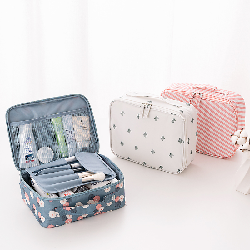 Wash bag travel carrying small storage box bag large-capacity womens net red ins wind super-fire carry-on makeup bag