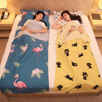 Cotton travel every dirty sleeping bag portable double business trip out of the cover hotel hotel anti-dirty quilt cover sheets