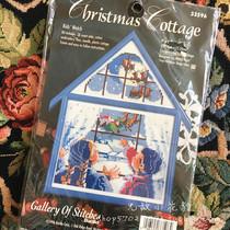 Американский Bucilla BU из печати небольшой дом набор для вышивания крестом: BU33596 рождественский снег с трехмерной рамкой