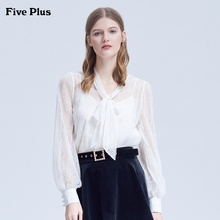 Five Plus 2019 New Autumn Lace Shirt