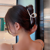 Hairpin back of the head grab clip female summer net red 2020 new pearl large hairpin headdress 2021 shark clip