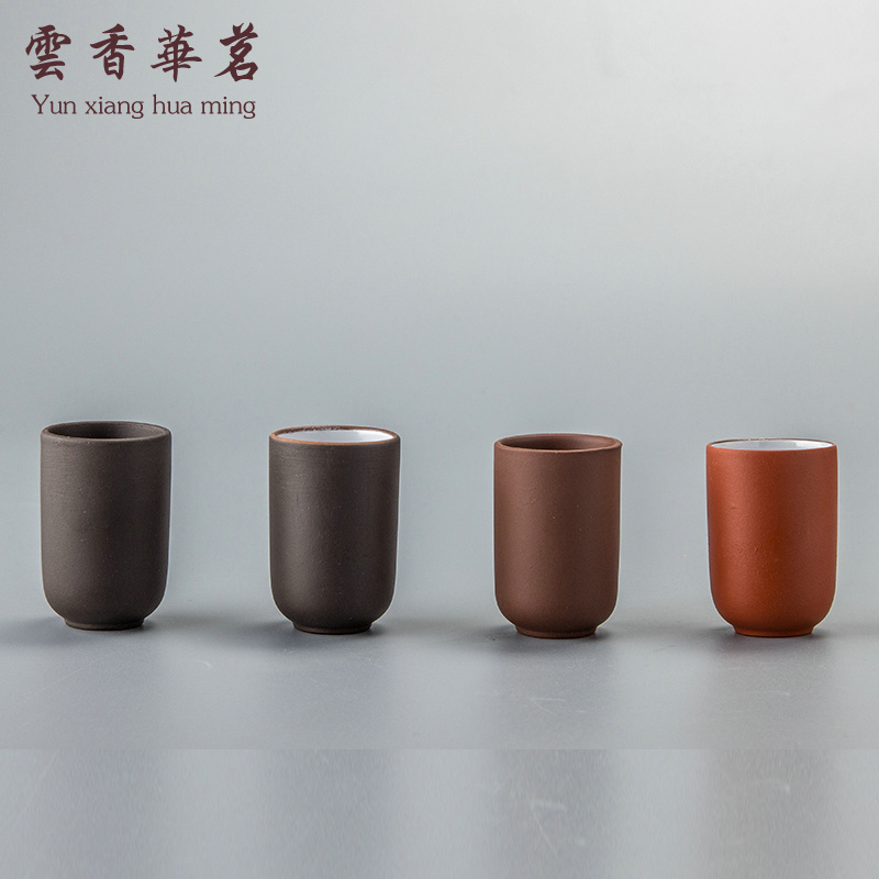 Yixing Kung Fu tea set single-product purple sand smelling cup smelling cup single cup small tea cup straight mouth cup