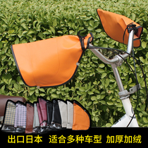 Export Japanese bicycle hand motorcycle electric vehicle Pu thickening plus velvet gloves windproof warm winter cotton practical