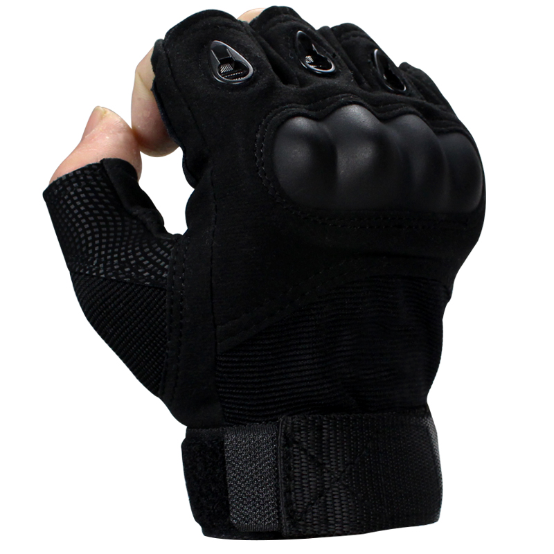 Tactical gloves special forces outdoor anti-cut anti-sting combat fight black eagle winter wear-resistant mens half finger training equipment