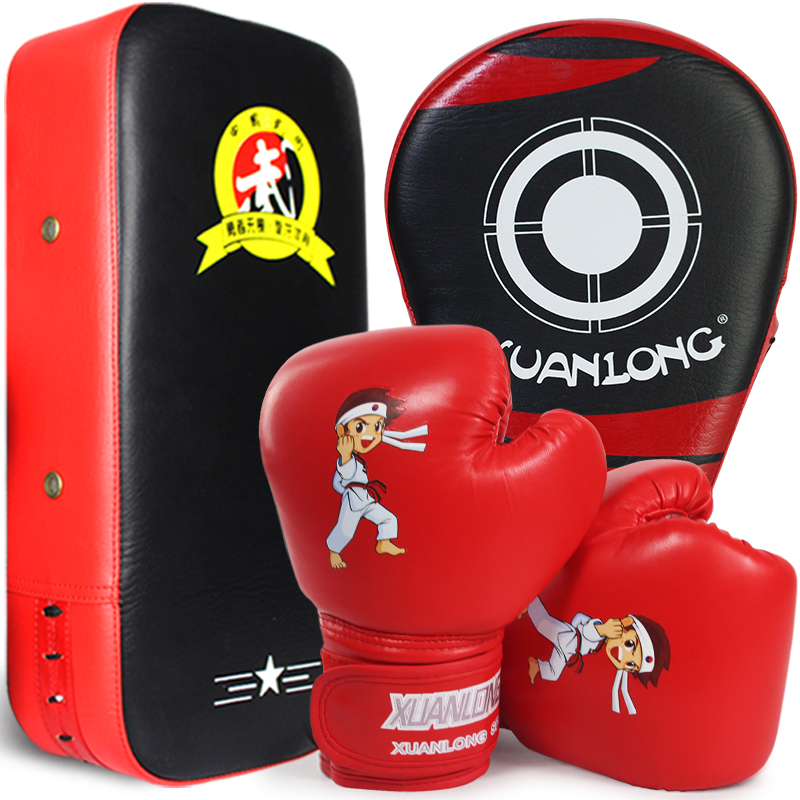 Gants de boxe pour enfants Toddler Children's Boy's Parent-Child Set Fight Sandbag Girl Scatter Training Kit