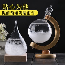 Weather forecast bottle storm bottle weather creative small ornaments home decoration craft living room wine cabinet TV cabinet