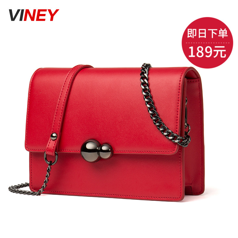 Viney 2019 New Type Women's Bag Retro-Korean Edition Slant Bag Single Shoulder Bag Slant Crossing Leather Bag Fashion Small Bag Tide