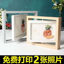 Творческая вращающаяся рамка для фото качели двусторонняя плюс стирка печать фото индивидуальные подарки шесть дюймов семь дюймов подарок на день рождения женщины