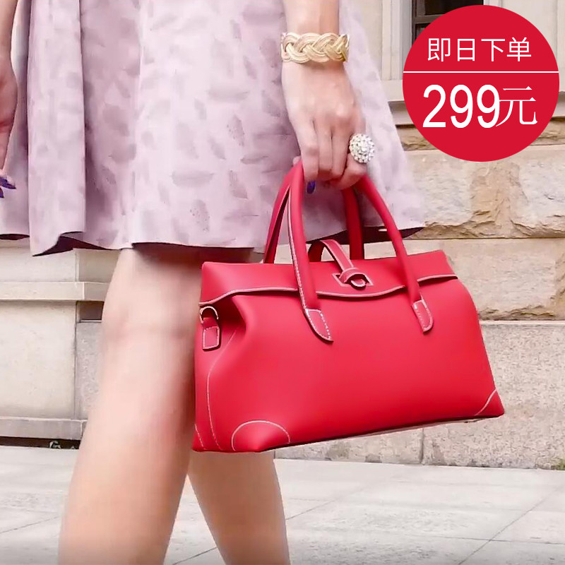 Bride Bag Girl 2019 New Marriage Buffalo Leather Lady Hand Bill Shoulder Bag European and American Fashion Famous Girl Bag