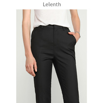 Professional trousers womens navy blue spring and summer thin loose straight trousers black high waist work dress pants