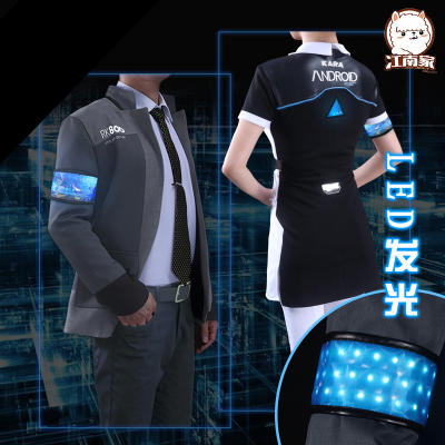 Connor Cosplay Detroit Become Human Costumes Wi