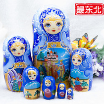 Russia seven-storey set of baby imported genuine 7-storey set of baby toy decoration Creative handmade birthday gift Set Doll