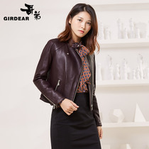 Womens brother 2017 autumn new style t motorcycle jacket leather leather coat A400001