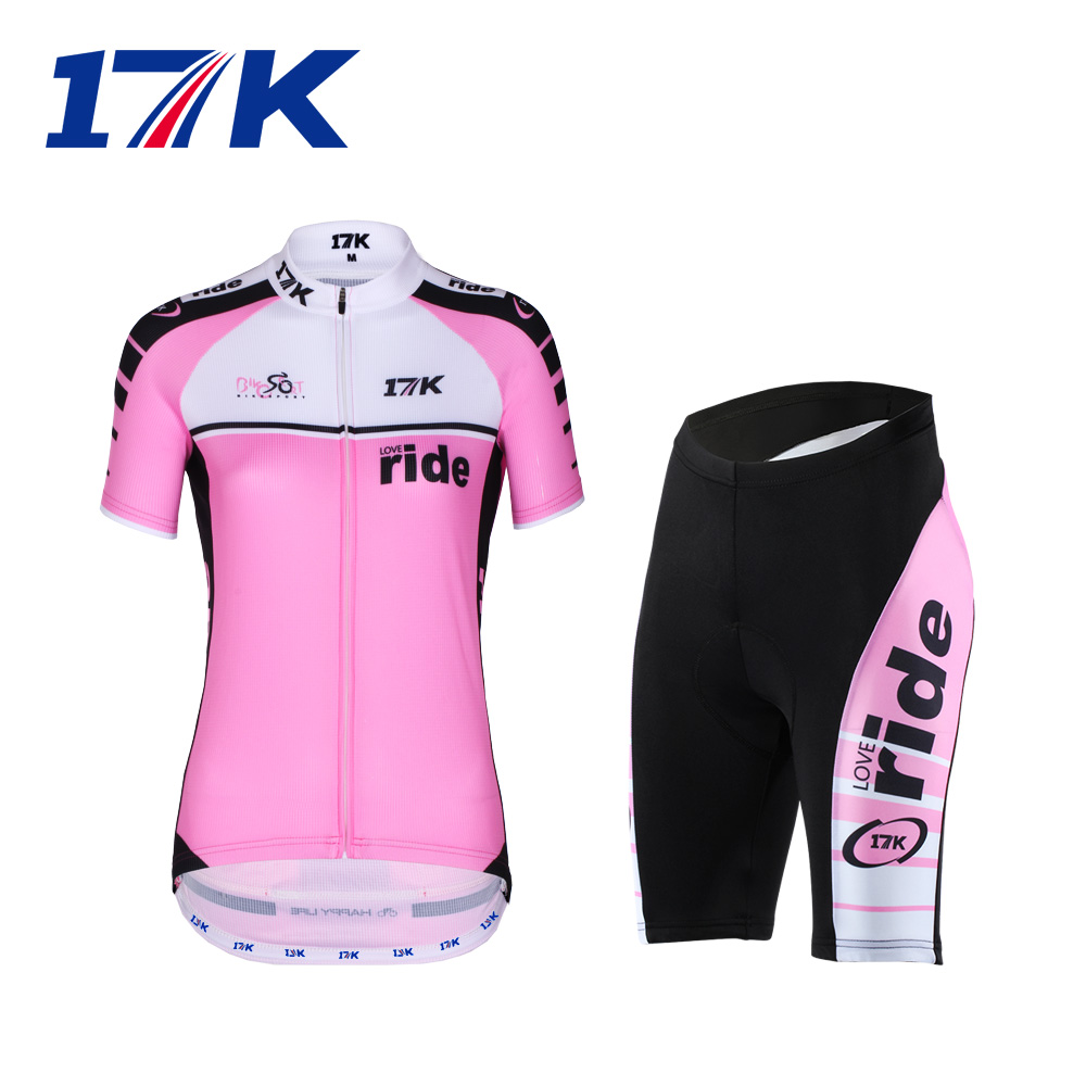 17K summer short-sleeved Jersey women's bicycle suit suit shirt shorts breathable and quick-drying equipment