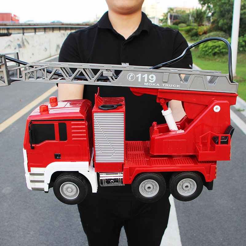Super large sprayable remote control fire truck electric lift off-road vehicle boy childrens toy model set
