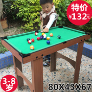 Exports of children's Wooden Black 8 billiard table small American English billiards table table tennis toy for children
