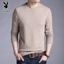 Playboy Spring and Autumn round neck pure wool woolen sweater