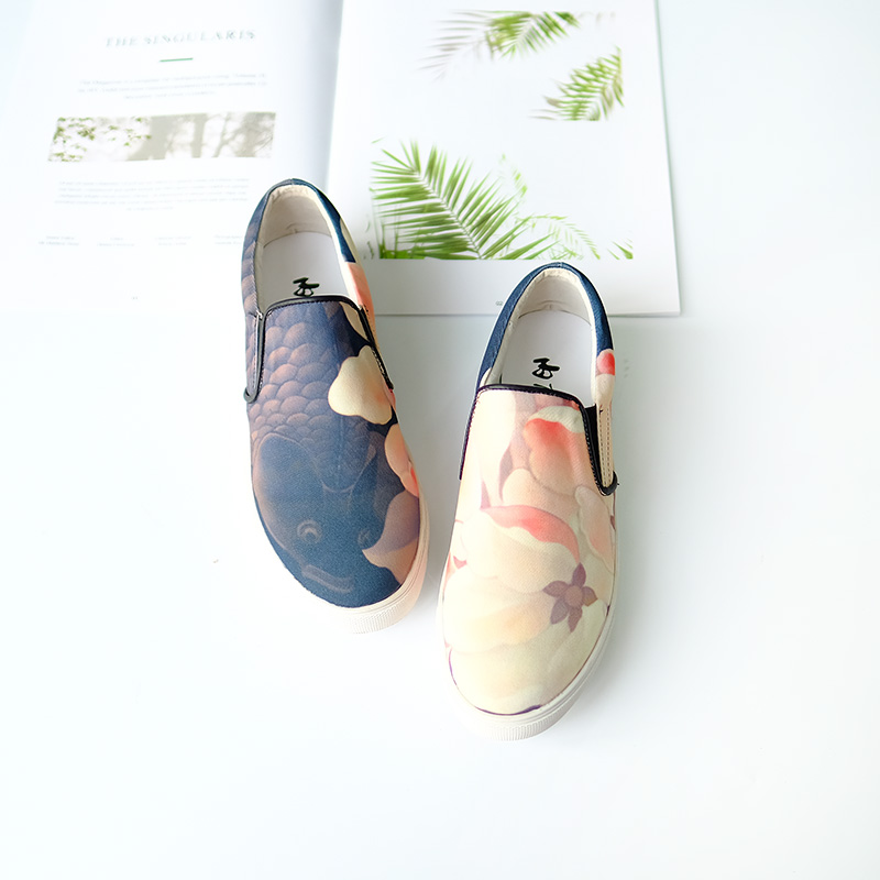 Inline rise cloth shoes old brand Beijing cloth shoes women's shoes big fish sea otter series fashion casual shoes single shoes DY6101