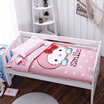 Kindergarten Quilt Three pieces set of cotton cotton children bedding mattress containing core nap baby crib six-piece set