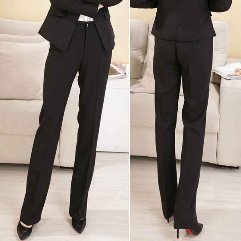 Professional pants women autumn and winter long pants straight trousers show thin slim size loose business work pants