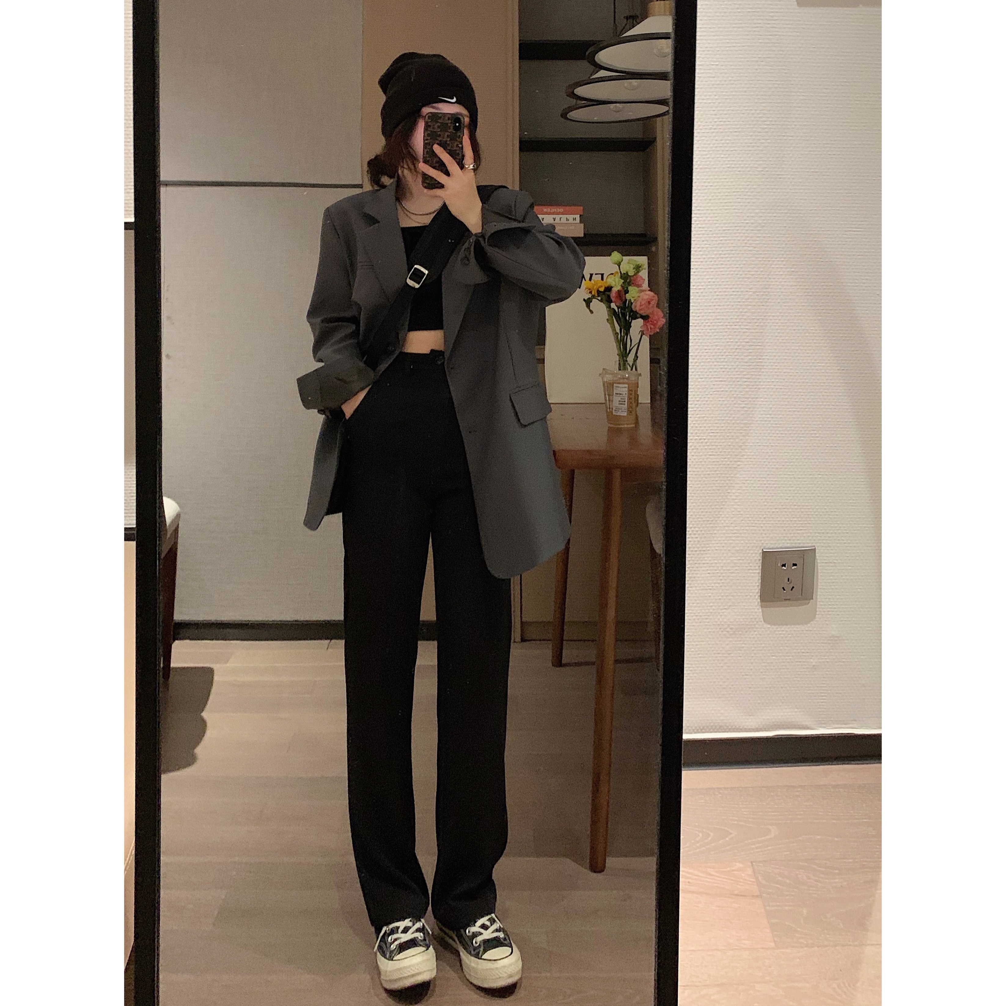VEEE life suit 2021 spring new shape fashionable thin loose three-color suit jacket
