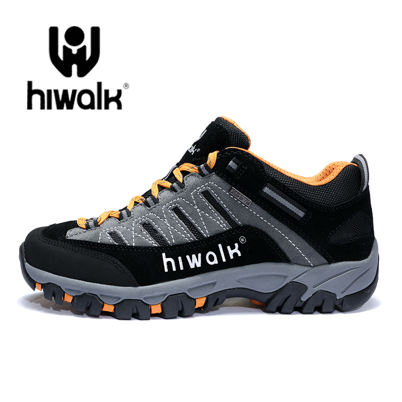 [The goods stop production and no stock]High-footwear men's waterproof, skid-proof and wear-resistant mountain-climbing shoes women's portable mountain-climbing shoes breathable sports outdoor shoes men's shoes