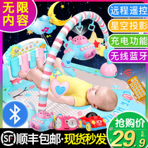 Foot piano newborn baby fitness rack baby boys and girls music puzzle toys 0-1 years old 3-6 months 12