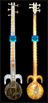 Python Peau professionnel deux Rewa PU Xinjiang de haute qualité ethnique instrument de musique monopole à envoyer accessoires