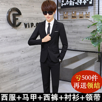 Mens Korean slim suit suit