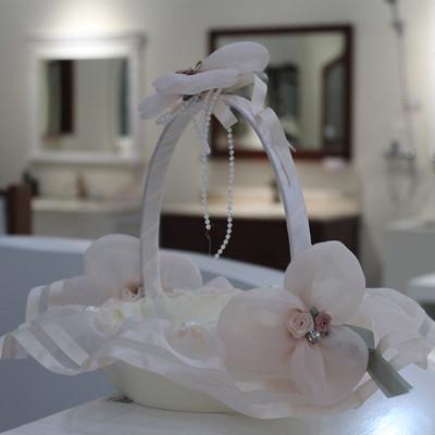 Pink princess bottom all-inclusive cloth dance flower basket wedding red envelope flower flower basket wedding ball decoration